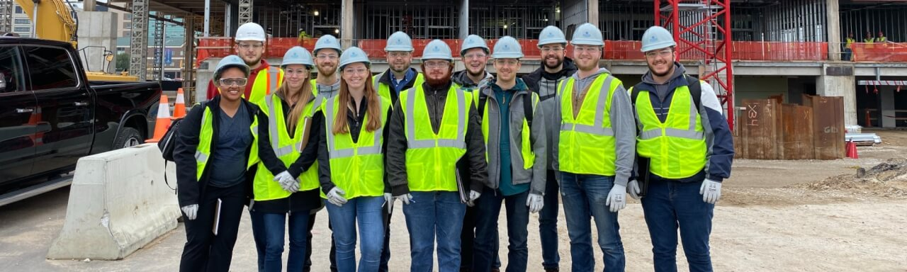 OSH students at a construction site